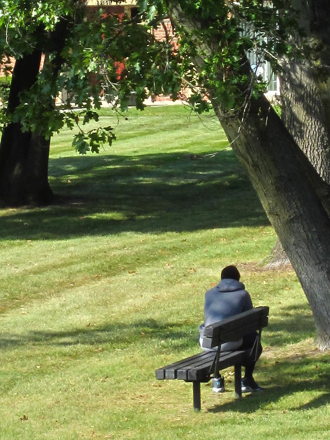 Person Photograph - In The Privacy Of His Own Thoughts by Guy Ricketts