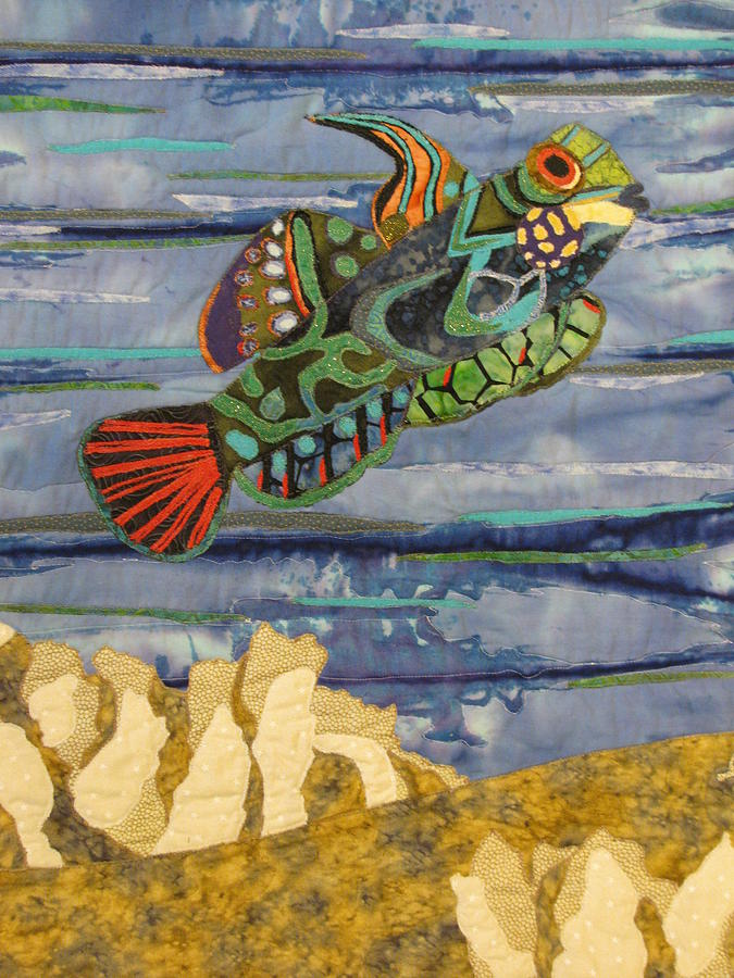 Seascape Tapestries - Textiles Tapestry - Textile - In The Reef by Lynda K Boardman