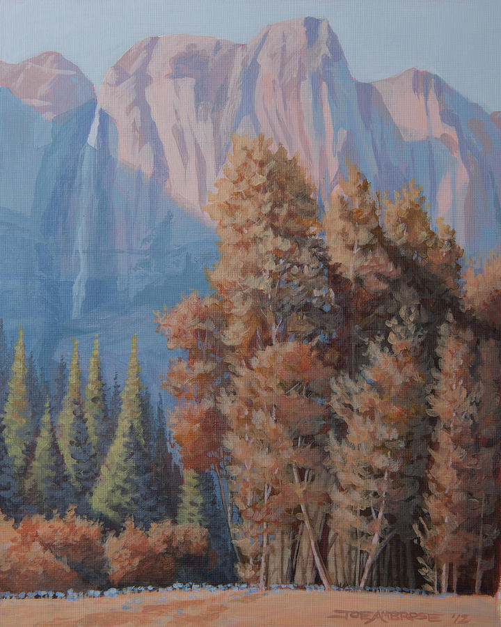 Yosemite Nation Park Painting - In The Shadow Of El Capitian by Joe Ambrose