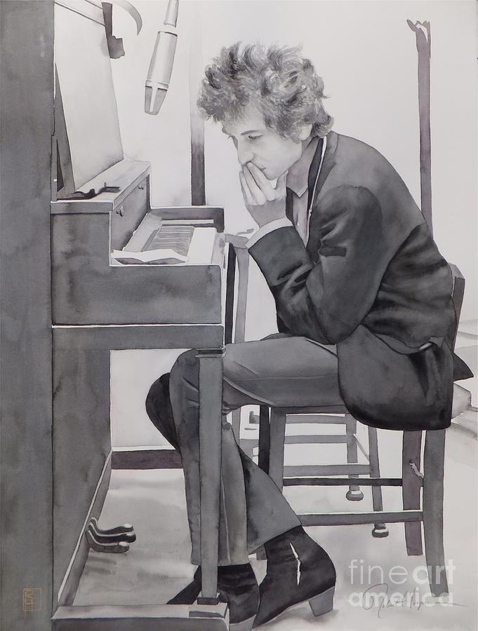 Watercolor Painting - In The Studio by Robert Hooper