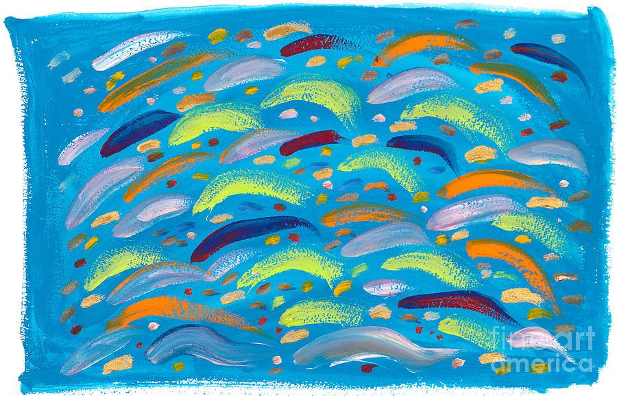 Fish Painting - In The Swim by Bjorn Sjogren