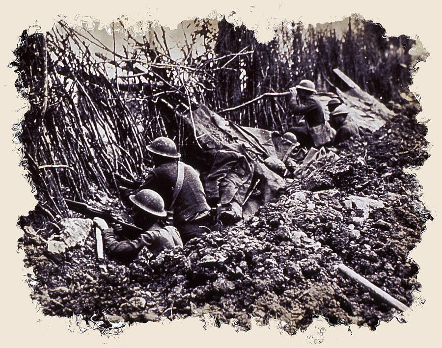 War Photograph - In The Trenches by Daniel Hagerman