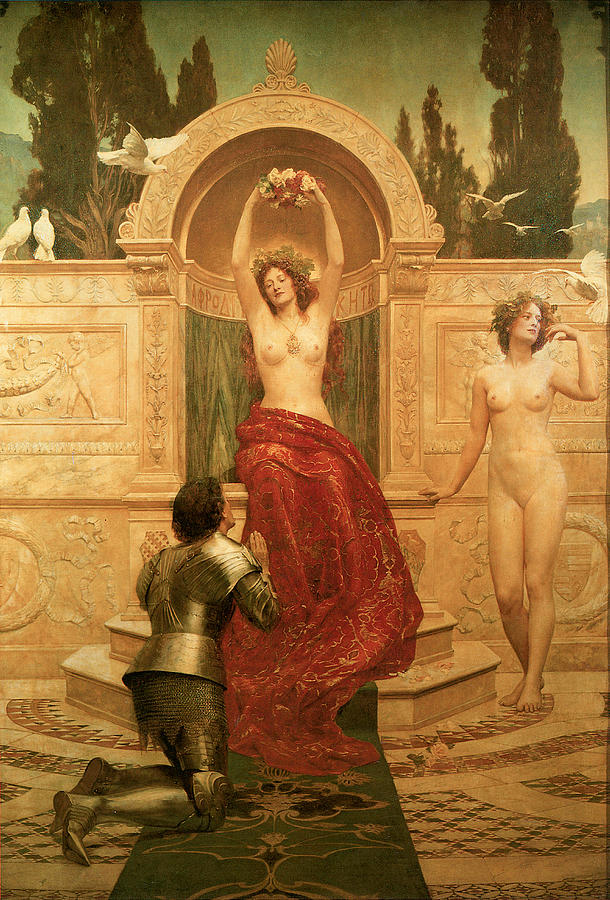 Honourable John Collier Painting - In The Venusburg by The Honourable John Collier