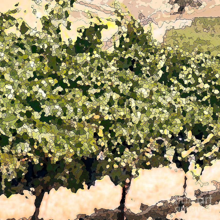 Ready For Harvest Painting - In The Vineyard by Artist and Photographer Laura Wrede