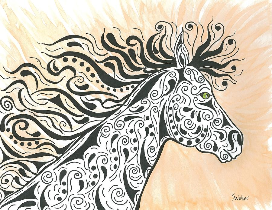 Horse Painting - In The Wind by Susie WEBER