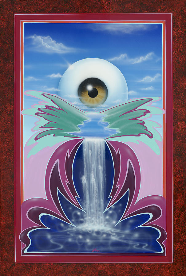 Eye Ball Painting - In The Wink Of An Eye by Alan Johnson