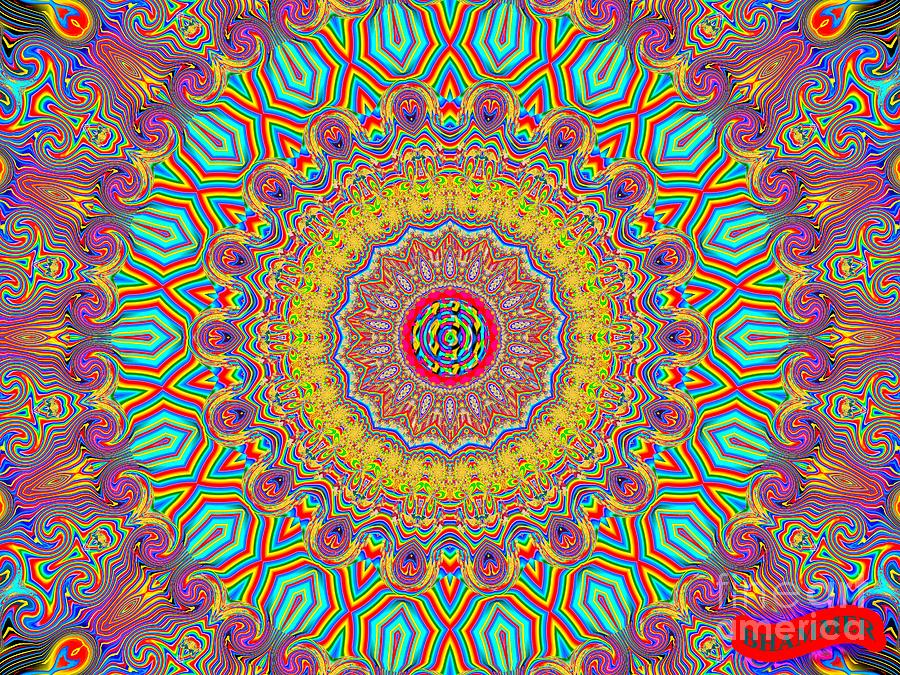 Colorful Digital Art - In The Zone by Bobby Hammerstone