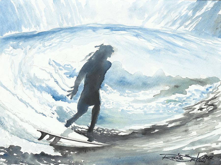 Surf Painting - In These Eyes by Ronnie Jackson