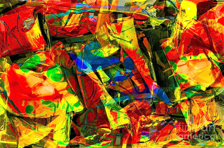 Abstract Digital Art - In Times Of Stress ... by Gwyn Newcombe