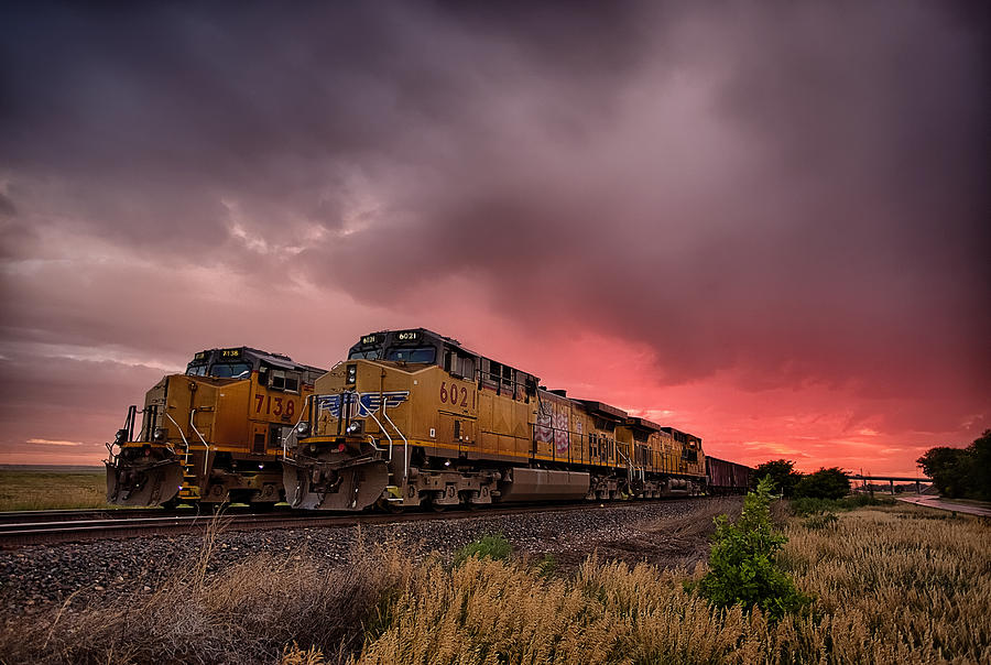 Train Photograph - In Waiting by Thomas Zimmerman