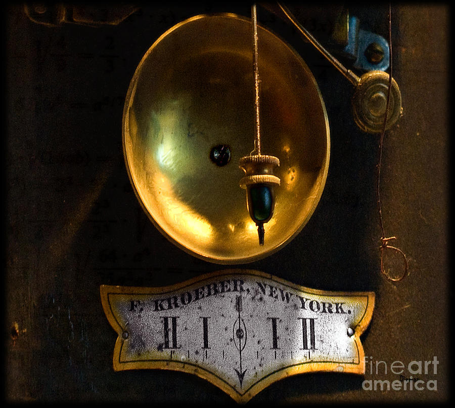 Clocks Photograph - In Which Events Pass From The Future Through The Present To The Past by Steven Digman