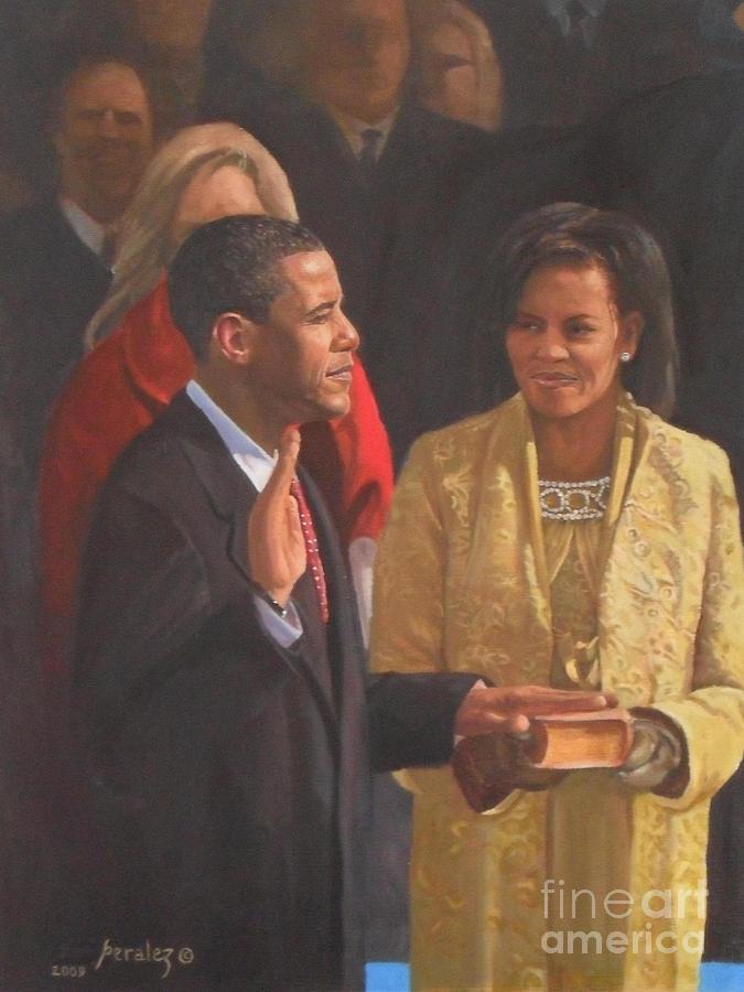 Barack Obama Paintings Painting - Inauguration Of Barack Obama by Noe Peralez
