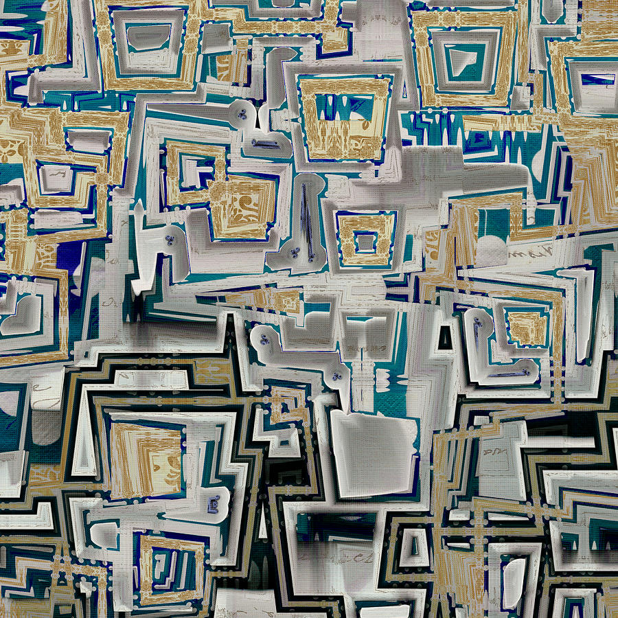 Abstract Digital Art - Inboxed - S03a by Variance Collections