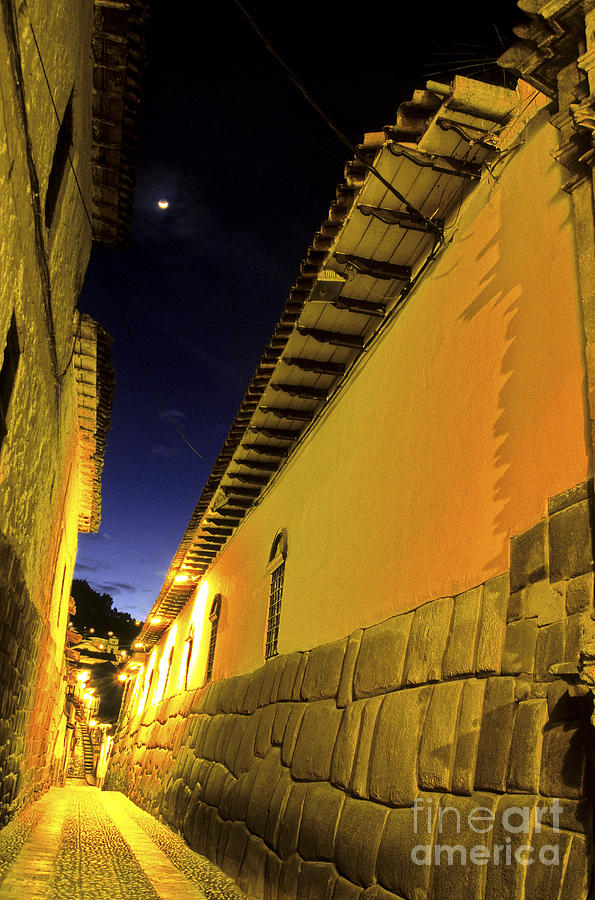 Alley Photograph - Incan Street Cusco Peru by Ryan Fox