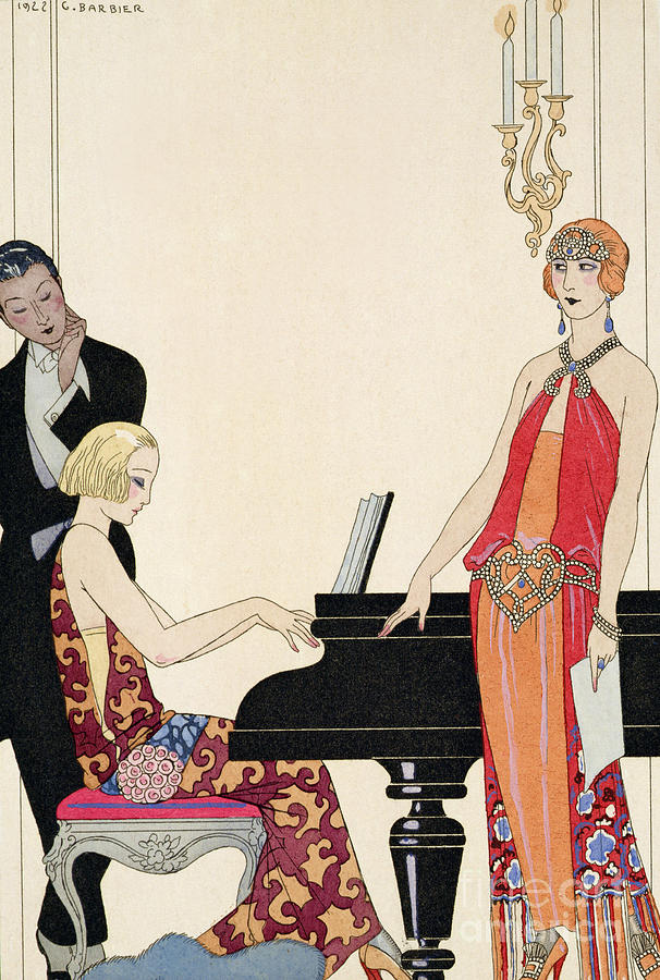 Piano Painting - Incantation by Georges Barbier