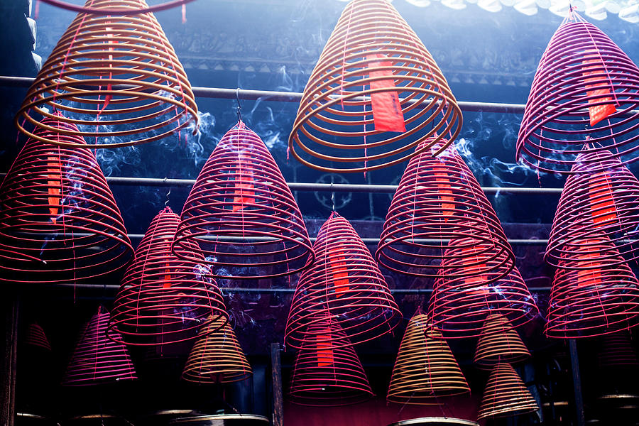 Incense Coils In Tin Hau Temple, Yau Ma Photograph by Jenny Jones