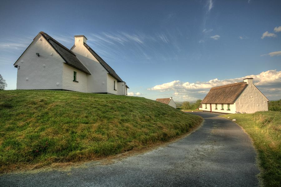 Clare Photograph - Inchiquin Cottages by John Quinn