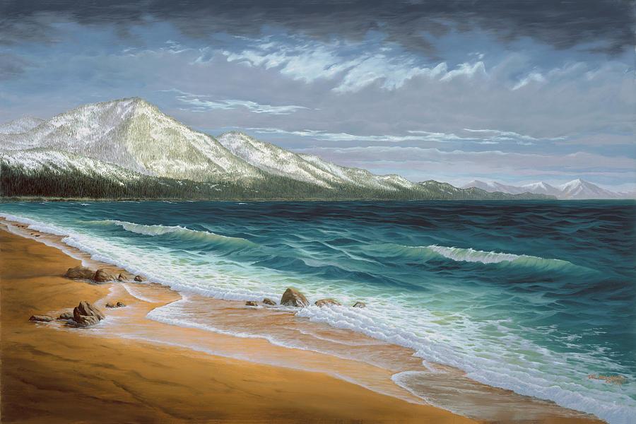 Incline Beach - North Shore - Lake Tahoe by Del Malonee