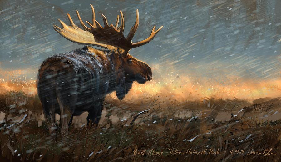 Moose Digital Art - Incoming by Aaron Blaise