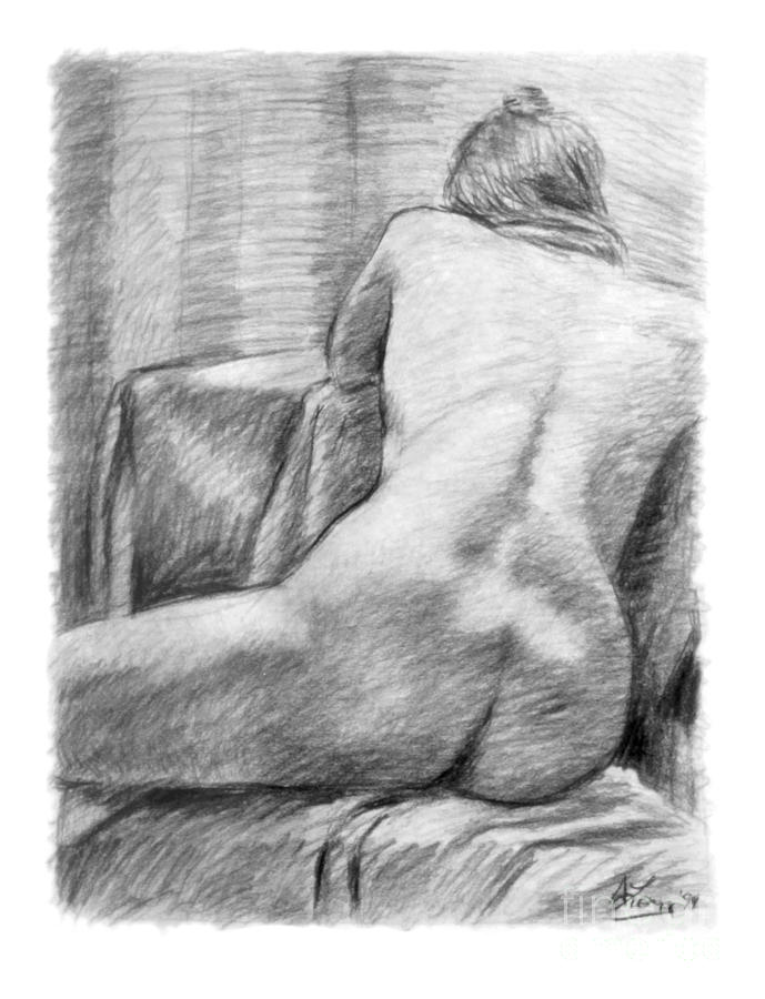 Drawing Drawing - Incongruous by Adam Long