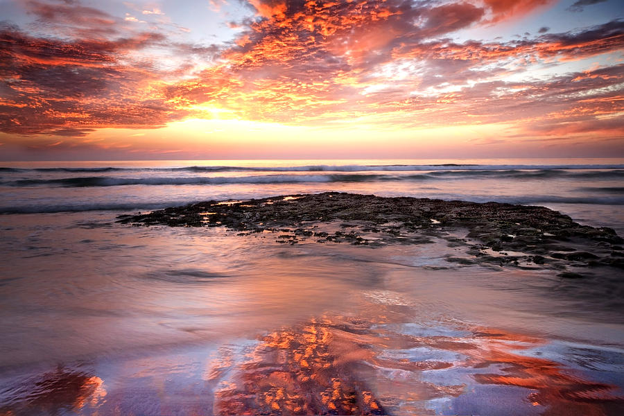 Sunset Photograph - Incredible Sunset by Julianne Bradford