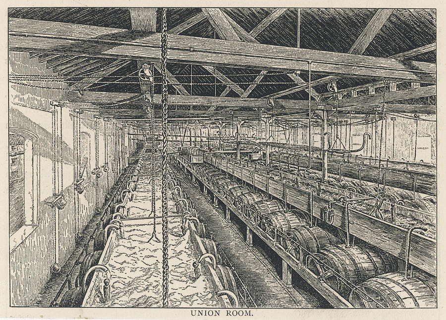 Ind Drawing - Ind Coope Brewery, Burton by Mary Evans Picture Library