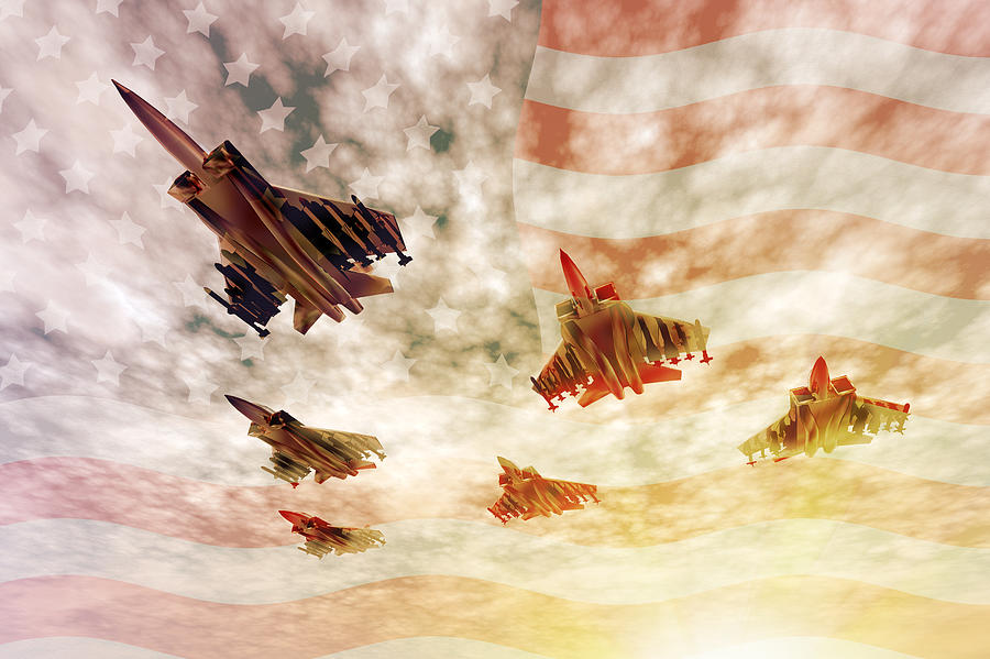 Air Force Digital Art - Independence Day by Carol and Mike Werner