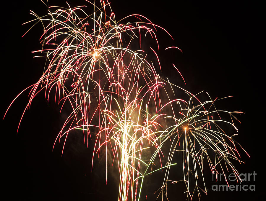 Fireworks Photograph - Independence Day Fireworks by Philip Pound
