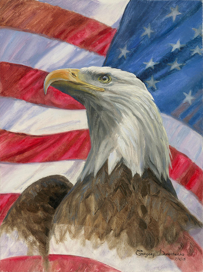 American Eagle Painting - Independence Day by Gregory Doroshenko