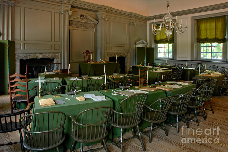 Philadelphia Photograph - Independence Hall In Philadelphia by Olivier Le Queinec