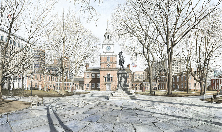 Independence Hall Painting - Independence Hall by Keith Mountford