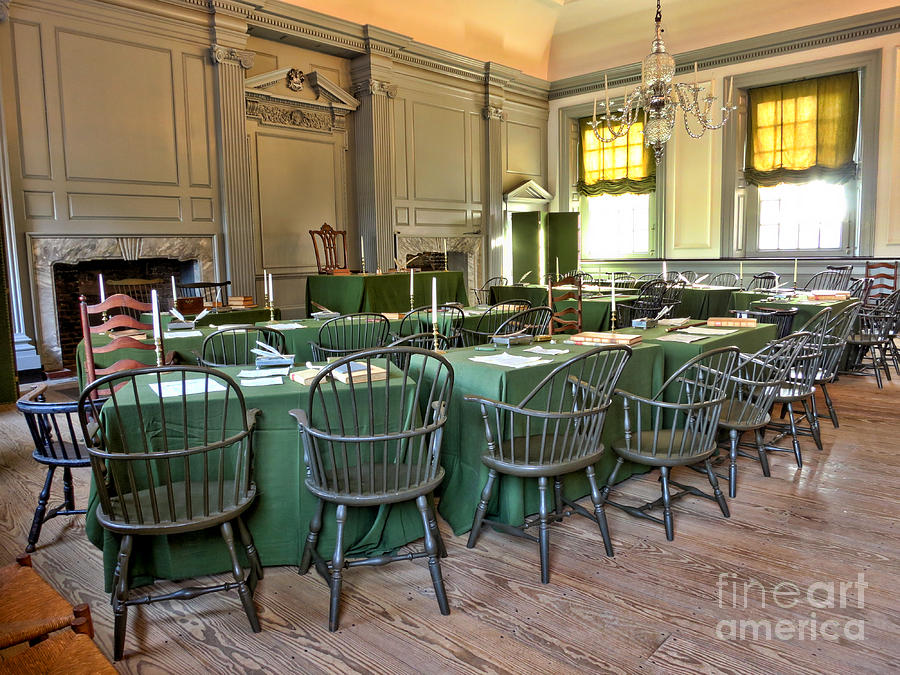 1776 Photograph - Independence Hall by Olivier Le Queinec