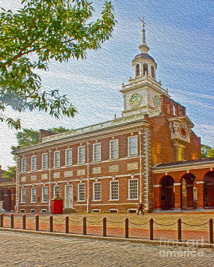Pennsylvania Photograph - Independence Hall Philadelphia  by Tom Gari Gallery-Three-Photography