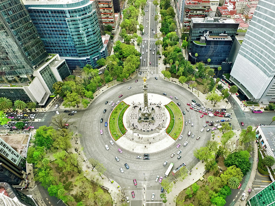 Independence Monument In Mexico City Photograph by Orbon Alija