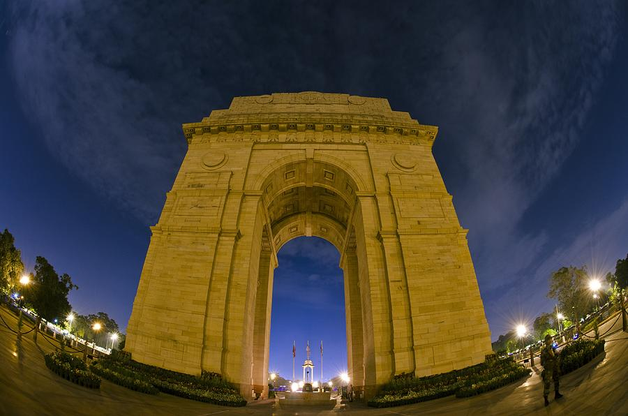 India Photograph - India Gate by Aaron Bedell