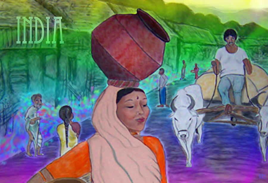 India Digital Art - India by Karen R Scoville