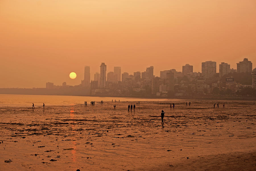 Adult Photograph - India, Maharashtra, Mumbai, Chowpatty by Anthony Asael