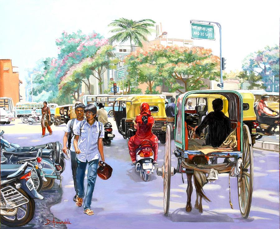 India Street Scene 3 by Dominique Amendola