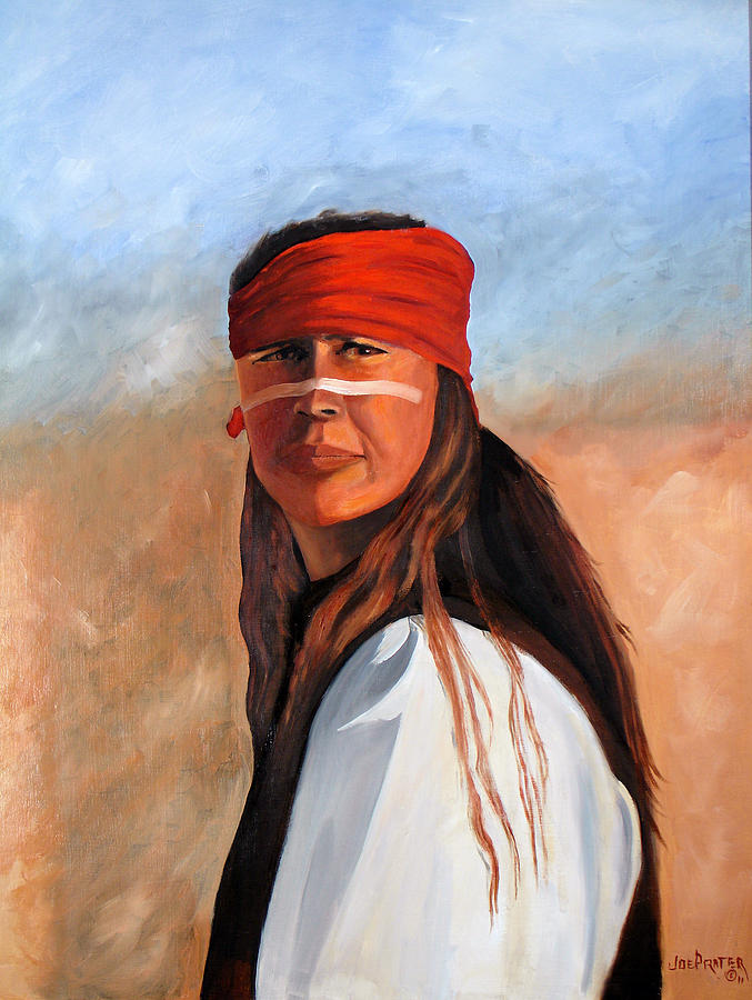 Indian Brave Painting By Joe Prater