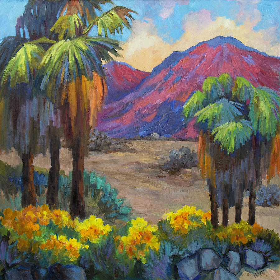 Palm Springs Painting - Indian Canyon In Spring by Diane McClary