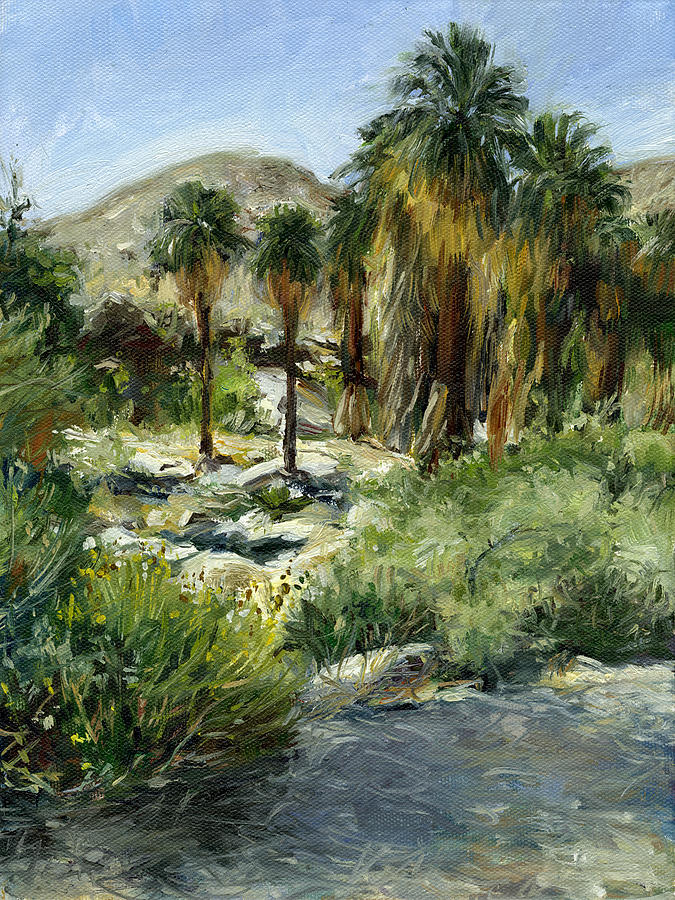 Palm Springs Painting - Indian Canyon Palms by Stacy Vosberg