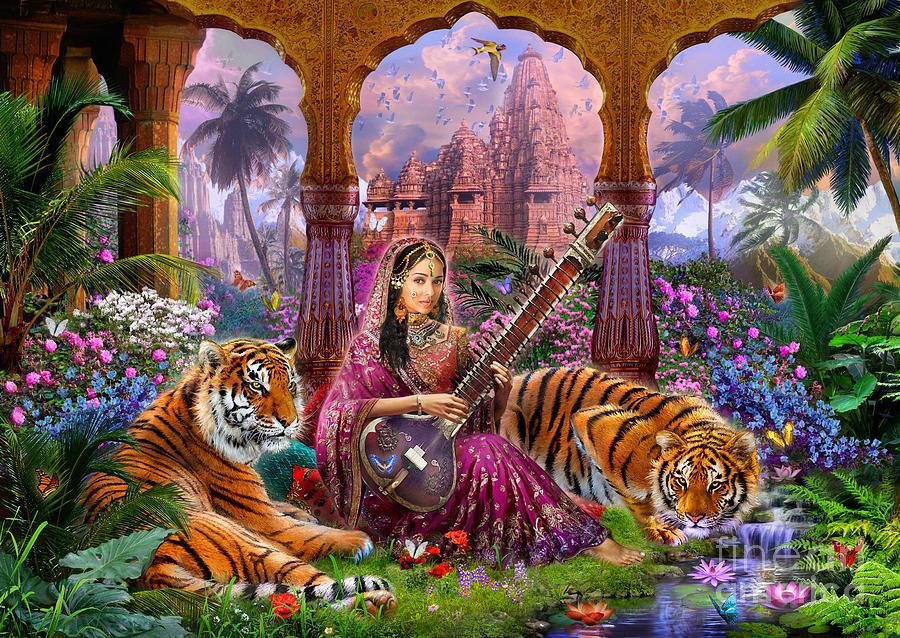 Adult Digital Art - Indian Harmony by Jan Patrik Krasny