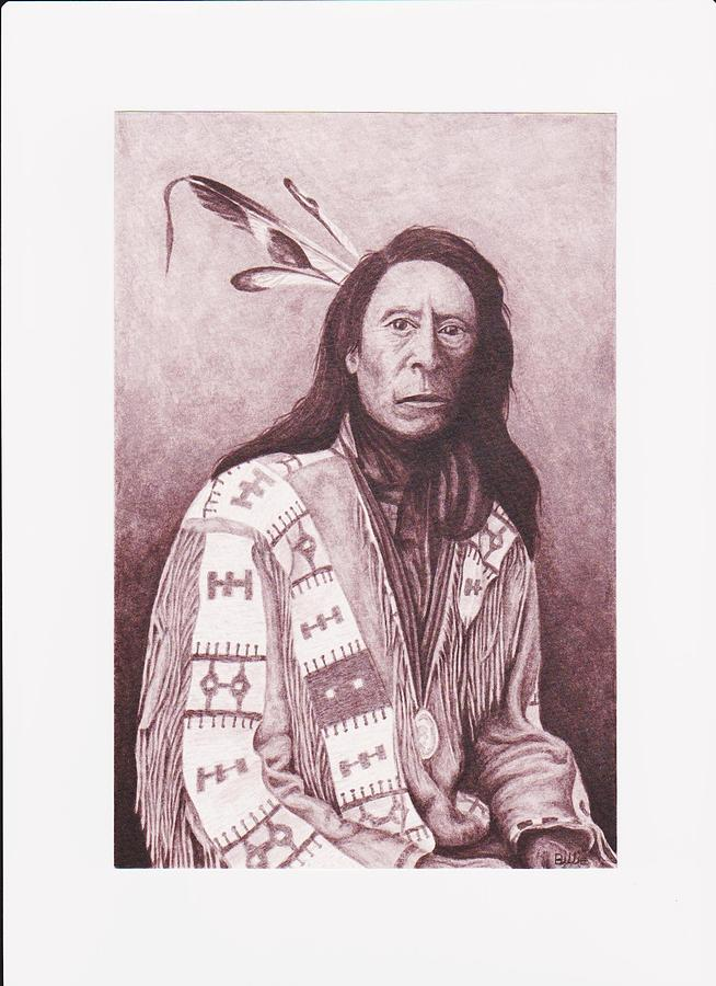 Indian Jack Red Cloud Painting by Billie Bowles