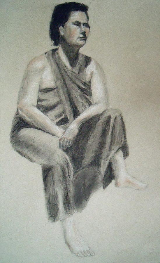 Figure Drawing Drawing - Indian by Jessica Sanders