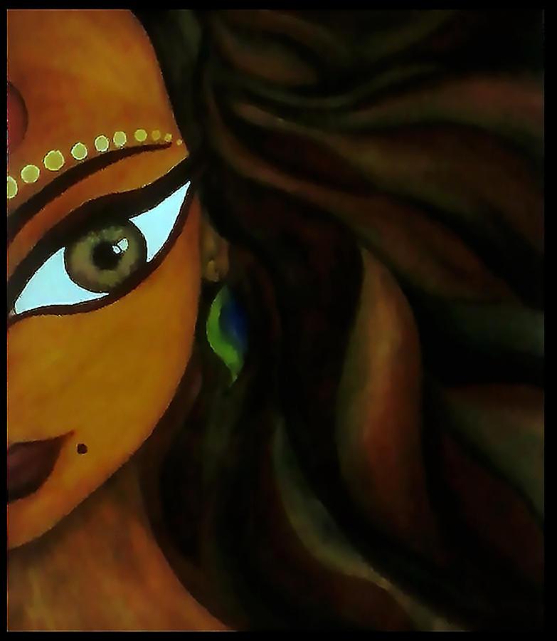 Beautiful Painting - Indian Lady  by Sivaanan Balachandran