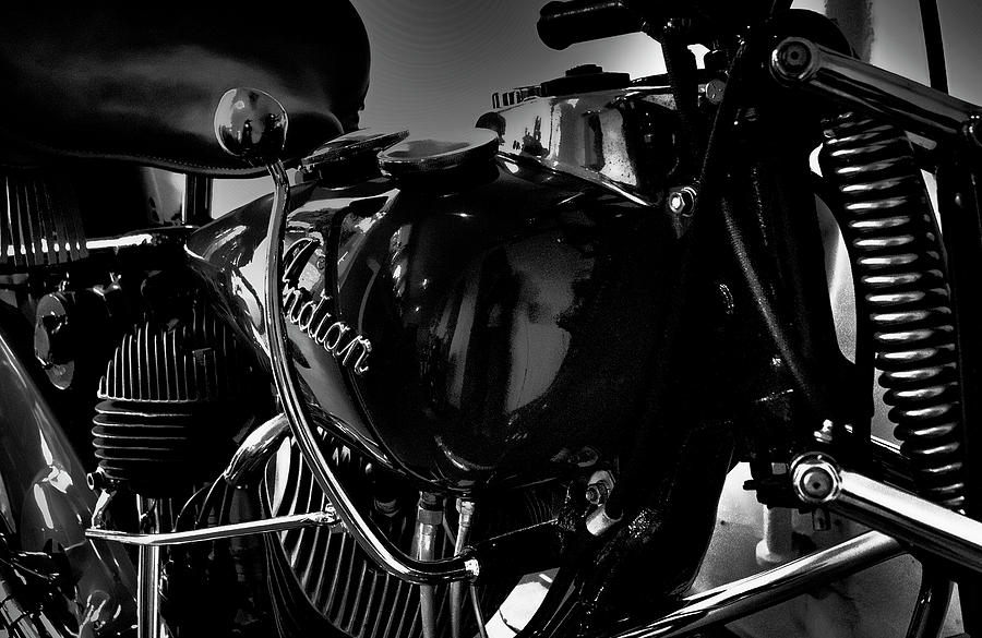 Indian Photograph - Indian Motorcycle II by David Patterson