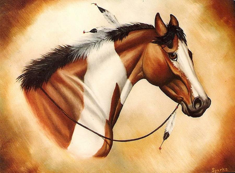 Oil Painting Painting - Indian Pony by Kay Sparks