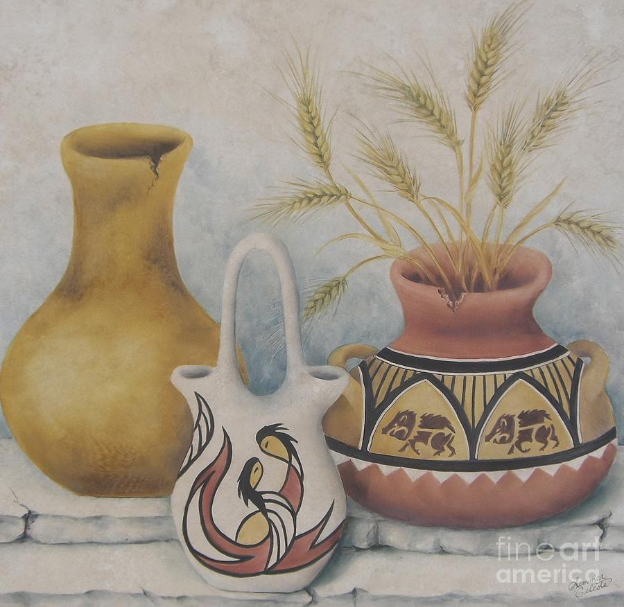 Indian Painting - Indian Pots by Summer Celeste