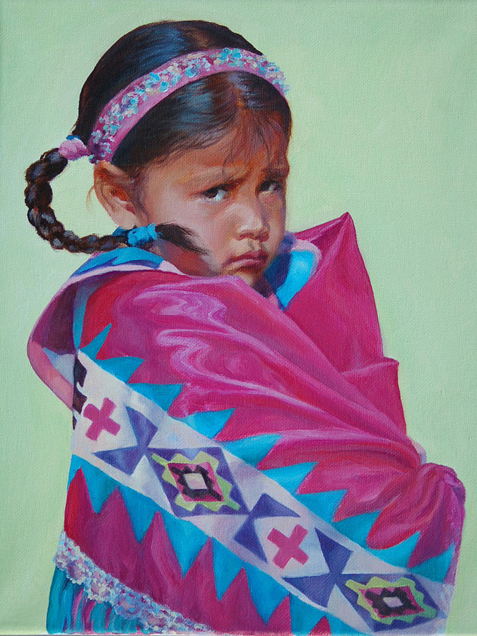 Native American Painting - Indian Princess by Christine Lytwynczuk