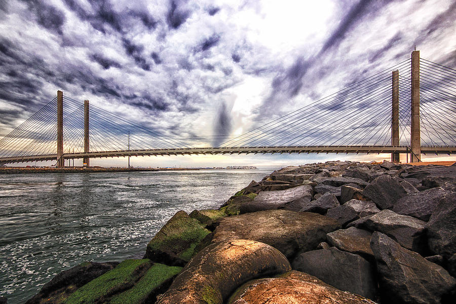 Indian River Bridge Photograph - Indian River Bridge Clouds by Bill Swartwout Photography